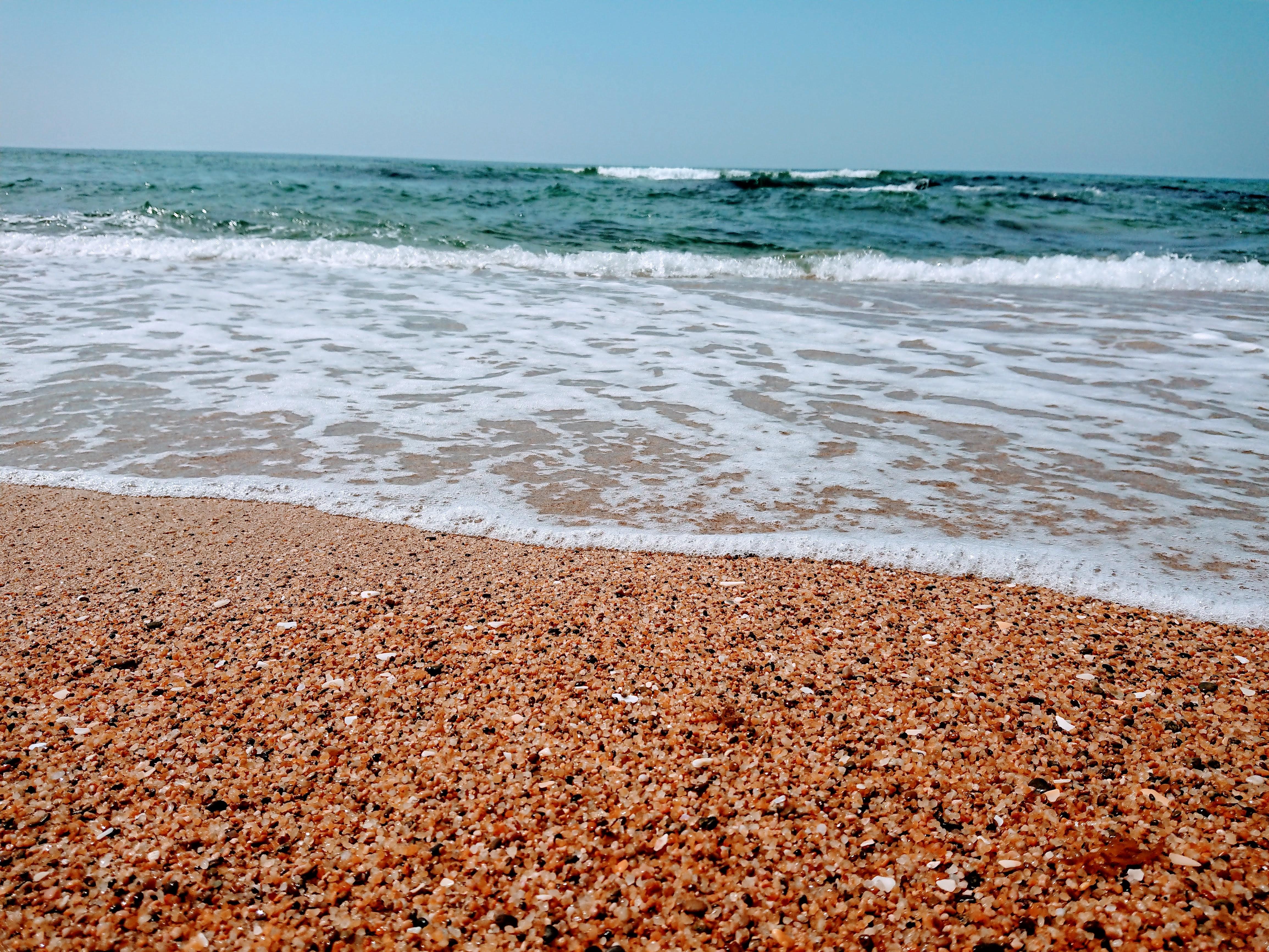 きれいな石の海岸