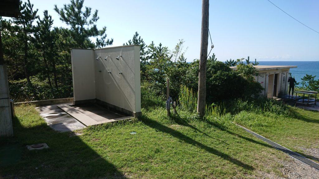 琴引浜のシャワー