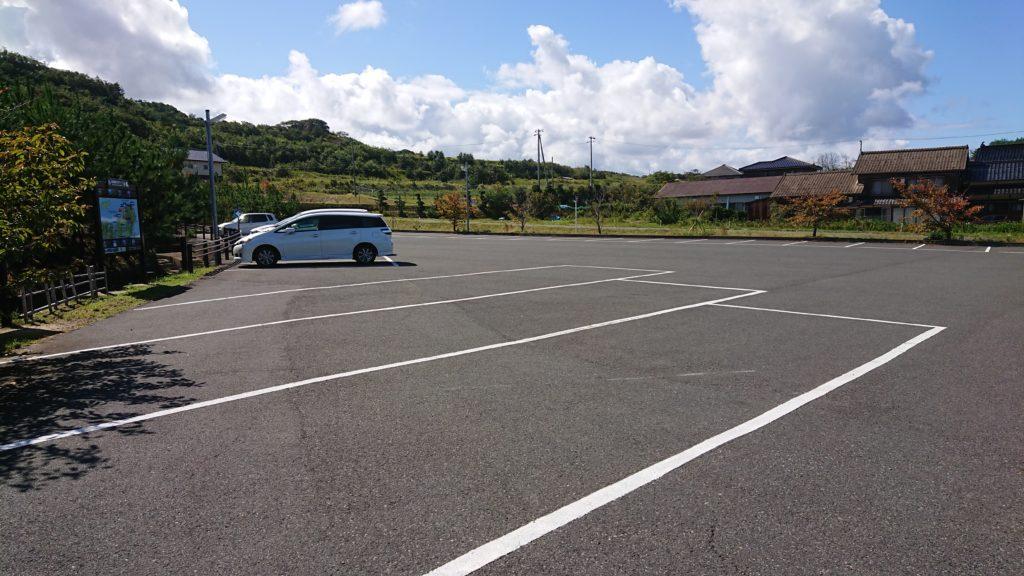 琴引浜鳴き砂文化館の駐車場