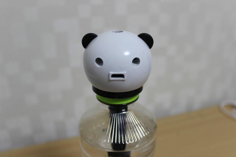 ダイソーで300円の超音波加湿器(パンダ)