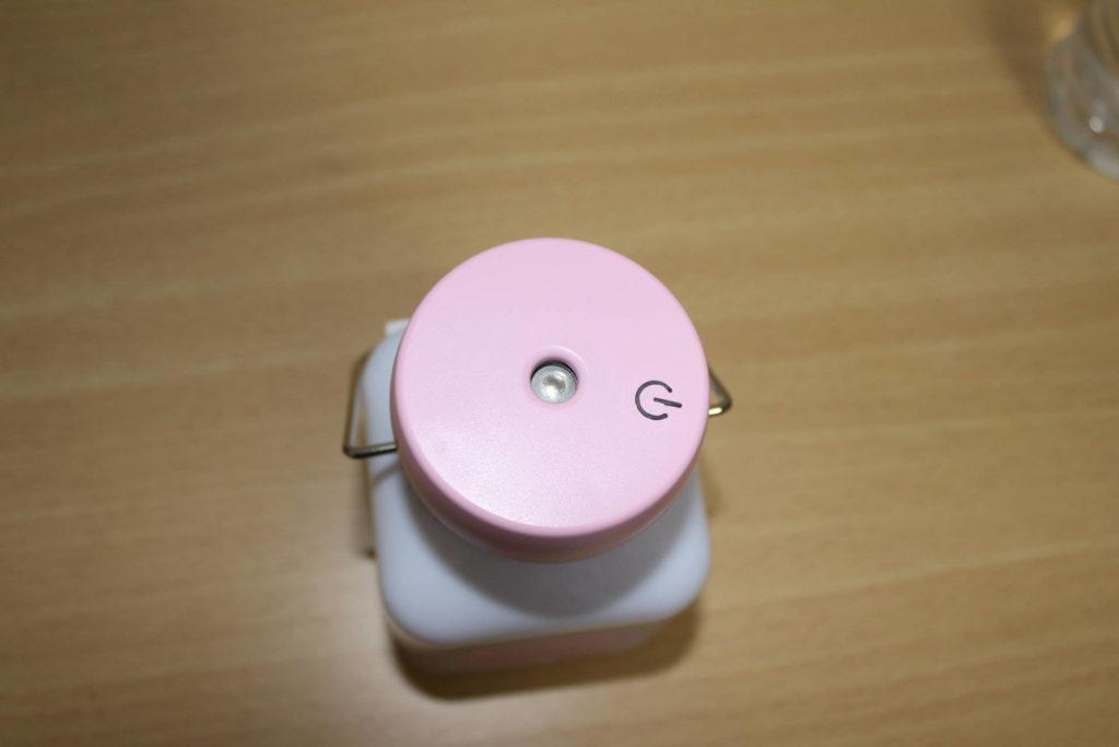 ダイソーで500円のミニ加湿器(ミルク瓶型)