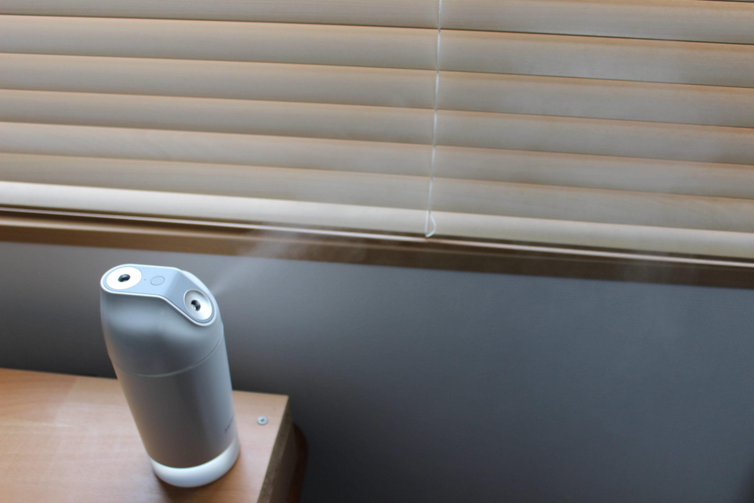JACESS充電式卓上加湿器の斜め噴射