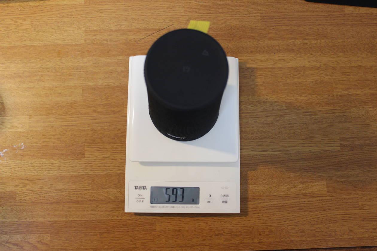 EarFun UBOOMの重さをスケールで測定
