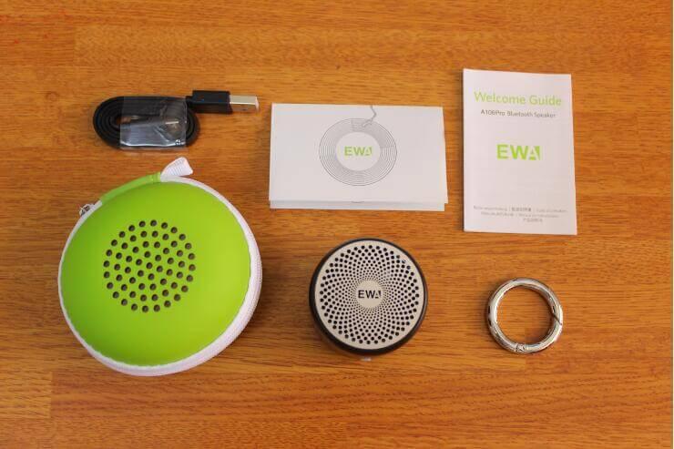 EWA A106Pro ポータブルBluetoothスピーカーの同梱品