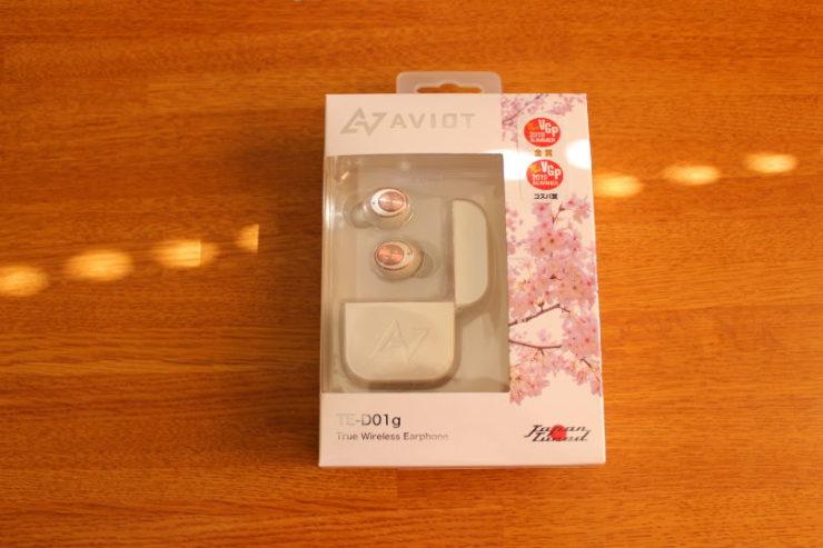AVIOT TE-D01g 完全ワイヤレスイヤホンの箱の外観