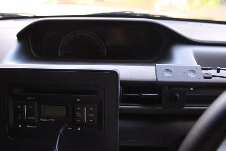 車に取り付けたAmazon Echo auto