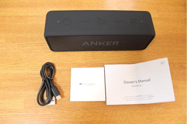 Anker Soundcore 2の同梱品