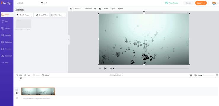 FlexClipビデオ追加後の画面