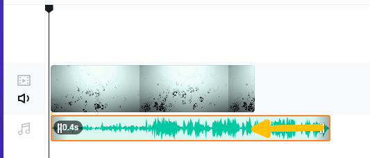 FlexClip オーディオの長さ調整