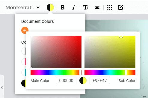 FlexClip 動画に挿入したテキストのカラーカスタマイズ