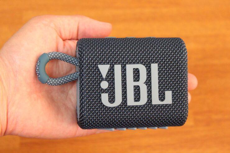 「JBL Go 3 ポータブルBluetoothスピーカー」正面