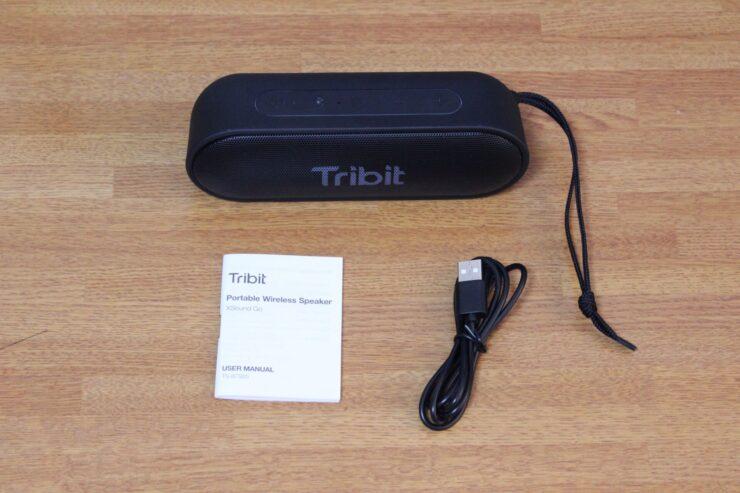 「Tribit XSound Go」ポータブルワイヤレススピーカーの同梱物