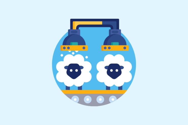 羊のクローン